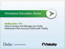 How to Access and Manage Your Duke Retirement Plan Account Online with Fidelity