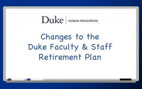 Fidelity to Become Duke's Primary Retirement Plan Provider
