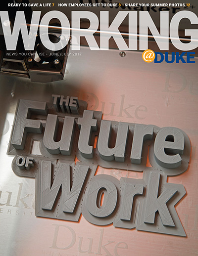 Working@Duke June/July 2017 Issue cover